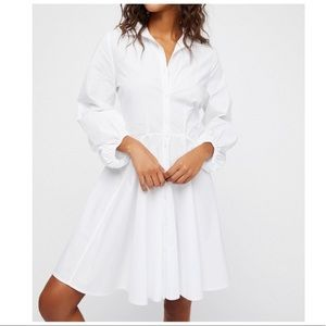 Free People white All The Time tunic